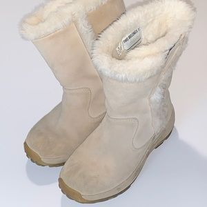LL Bean Girls Suede Fur Fall Winter Boots 2